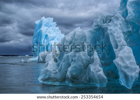 Glaciers in Laguna San Rafael National Park in Chile