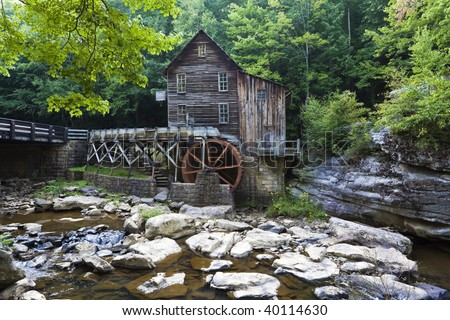 Glade Creek Grist Mill in abcock State Park, West Virginia.