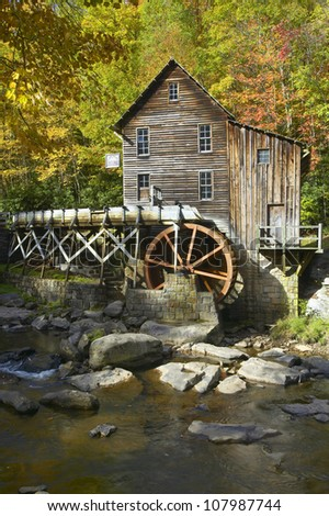 Glade Creek Grist Mill in Babcock State Park, West Virginia