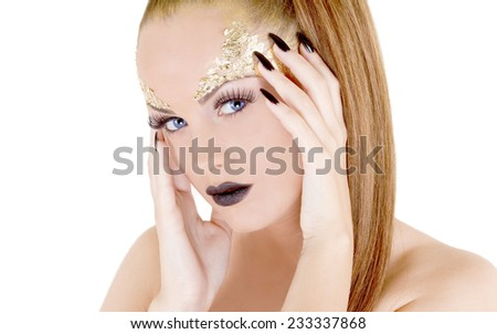 Glamor makeup attractive woman  - stock photo