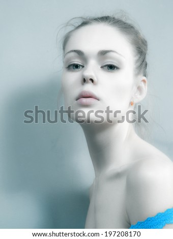 Glamor portrait of the girl in studio - stock photo