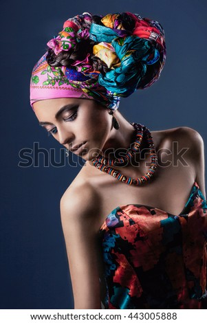 Glamour african women - stock photo
