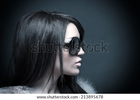 Glamour portrait of a beautiful young woman  - stock photo