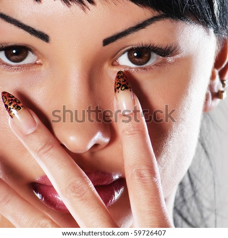 glamour woman. close-up - stock photo