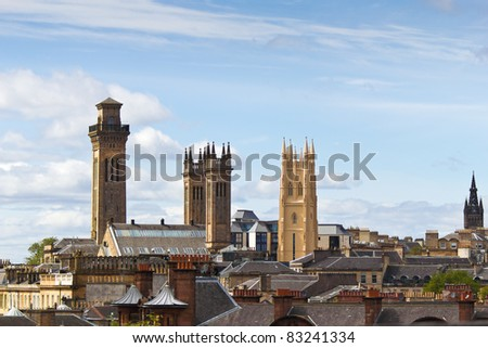 Glasgow Trinity College Towers - stock photo