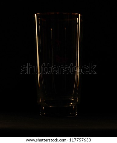 glass against a dark background - stock photo