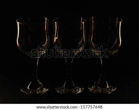glass against a dark background