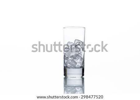 Glass and ICE - stock photo