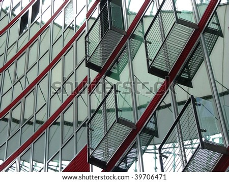 Glass and steel building in Berlin
