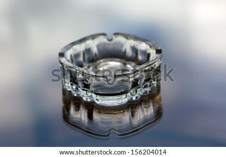 glass ashtray - stock photo