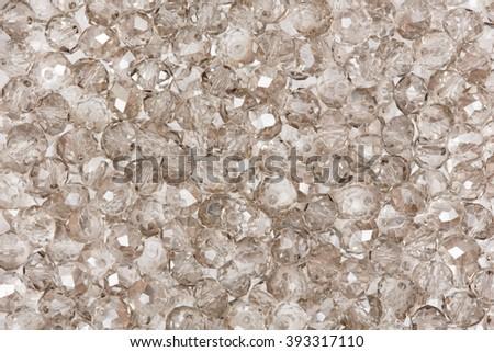 Glass beads texture. Hi res photo. - stock photo