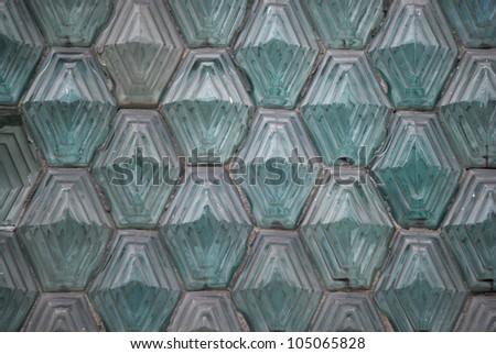 Glass Blocks in green - stock photo