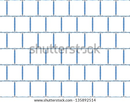 Glass blocks isolated against a white background - stock photo