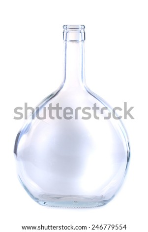 glass bottle isolated on the white background - stock photo