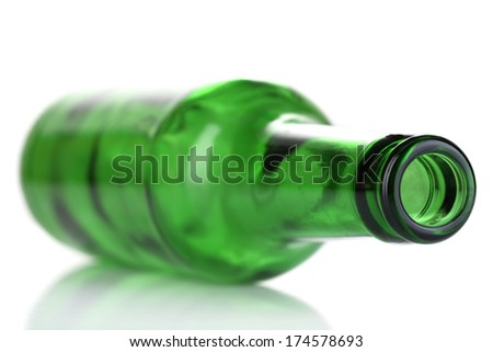 Glass bottle isolated on white