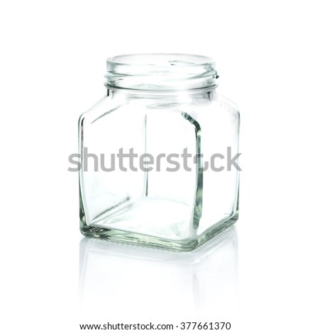 glass bottle on white background