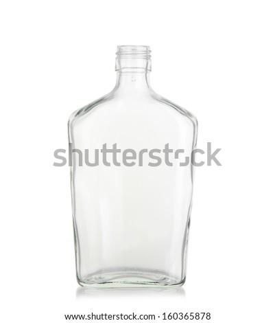 Glass bottles isolated on white background. - stock photo