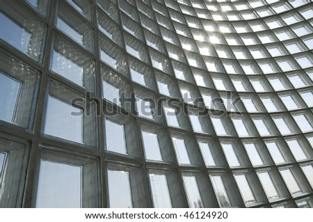 Glass bricks - stock photo