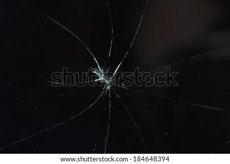glass broken - stock photo