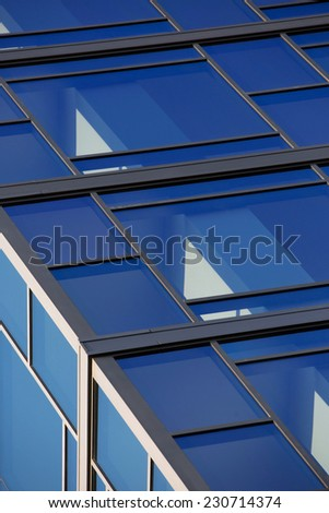 glass building abstract - stock photo