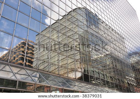 Glass Building Reflect Outside