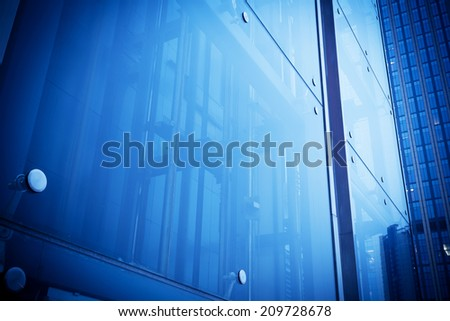 Glass building, wall - stock photo