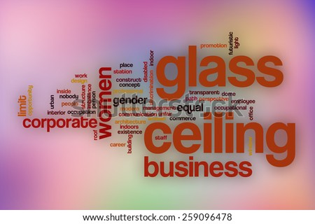 Glass ceiling word cloud concept with abstract background - stock photo