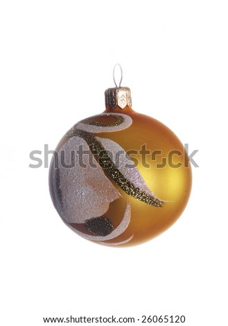 Glass Christmas decoration on a green tree