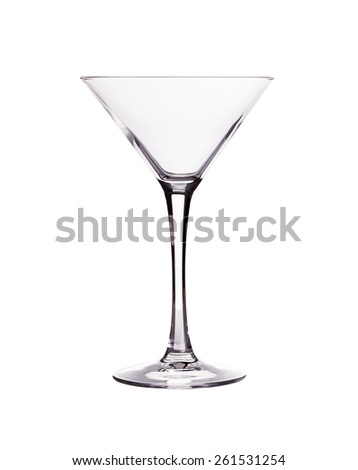 Glass cup martini. On a white background. - stock photo