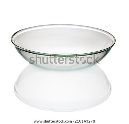 Glass dish on a white background, isolated - stock photo