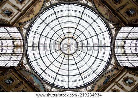 Glass dome. Urban living, abstract, architectural concept.