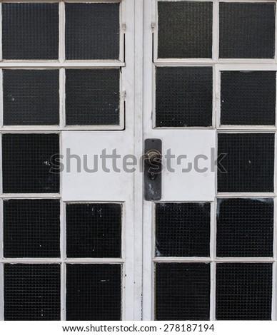 Glass Door - stock photo