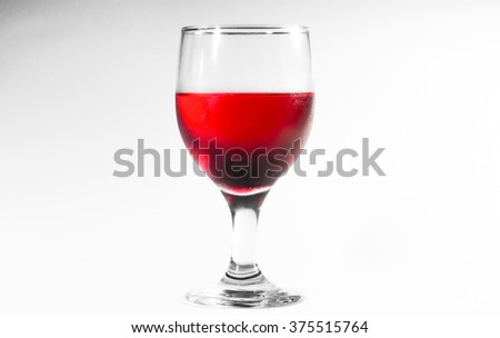 Glass Drink Red