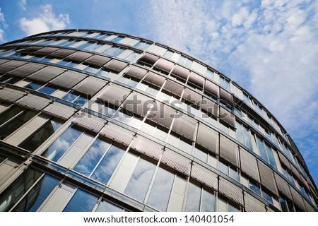 glass facade of an office building - stock photo
