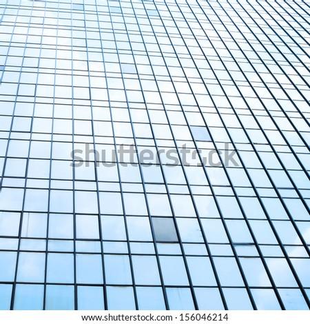 Glass facade of modern building - stock photo