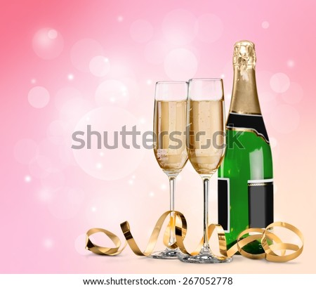 Glass, flute, isolated. - stock photo