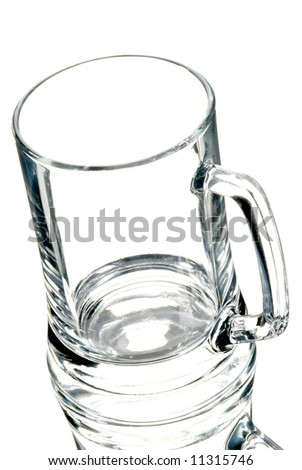 glass for beer on the white background