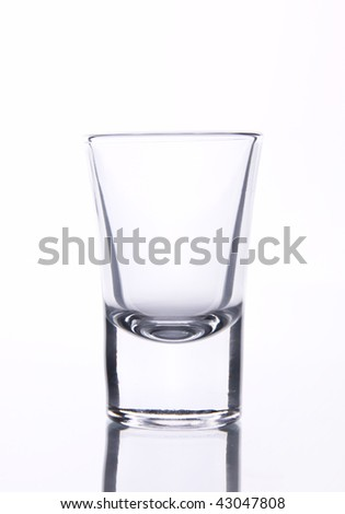 glass for brandy on white background - stock photo