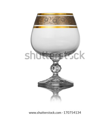glass for cognac - stock photo