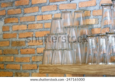 Glass for water  - stock photo