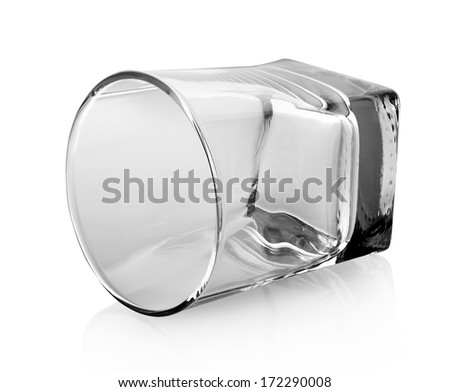 Glass for whiskey isolated on a white background - stock photo