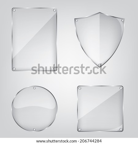 Glass frame collection - stock photo