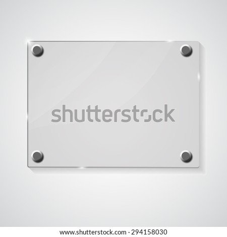 Glass frame on abstract background.  illustration.  - stock photo