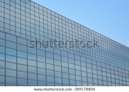 Glass front of a modern building