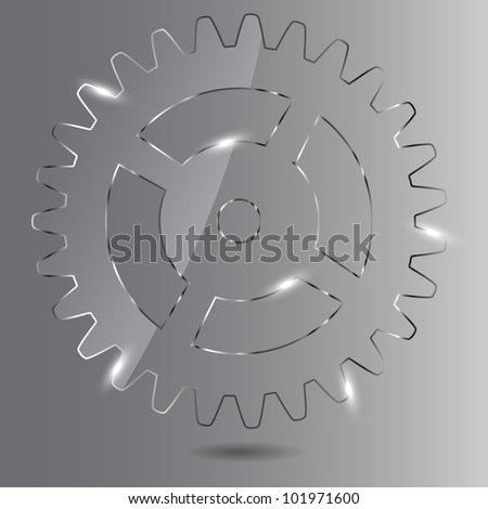 Glass gear  illustration