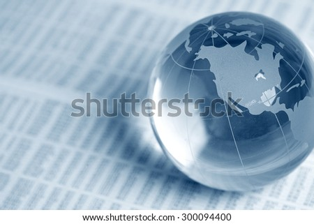 glass globe ball - stock photo