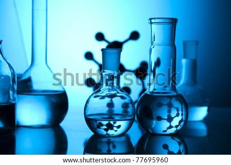 Glass in laboratory - stock photo