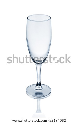 glass isolated on a white background - stock photo