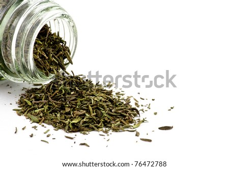 Glass jar of dried thyme