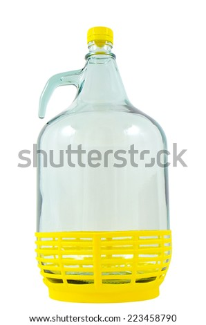 Glass jug of water photographed close - stock photo